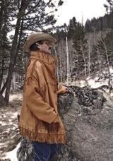 Hand laced leather tooled original art elk jacket