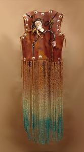 hand twisted ombre dyed fringe