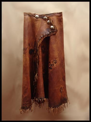 Deer, hand laced, aged, skirt